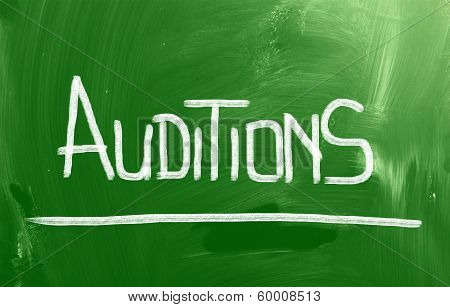 Auditions Concept