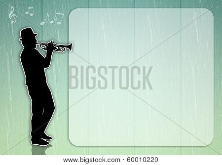 Man Playing Trumpet Backckground