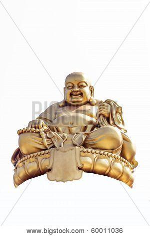 Smiling Golden Buddha Statue