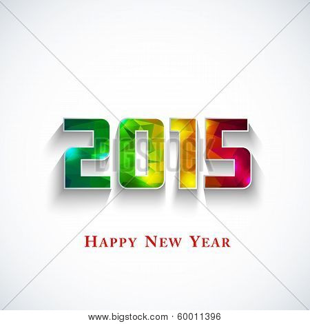 Colored Polygonal 2015 Year
