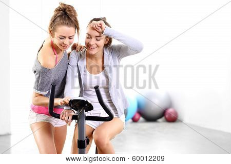 Training on exercise bike
