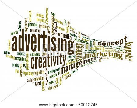 High resolution concept or conceptual 3D abstract business advertising word cloud or wordcloud isolated on white background