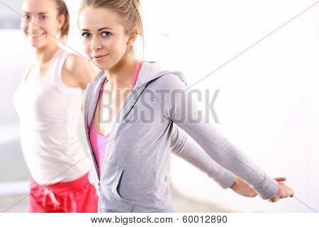 Friends on strength training