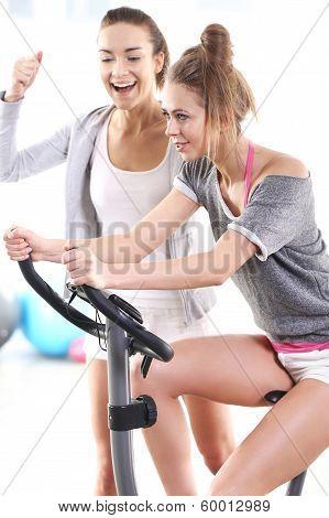 Training on exercise bike