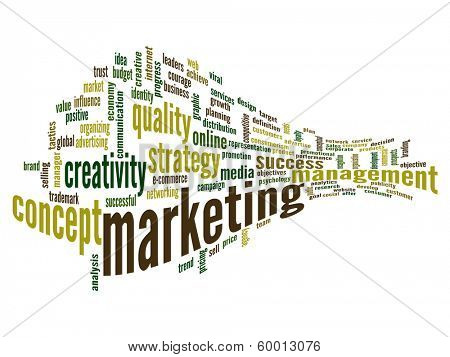 High resolution concept or conceptual abstract 3D business marketing word cloud or wordcloud isolated on white background