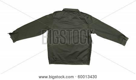 Black working jacket.