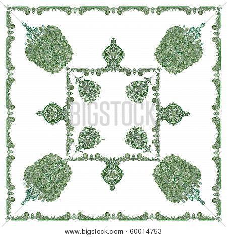 green abstract composition as pattern for background