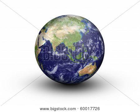 Earth Globe - Asia And Australia