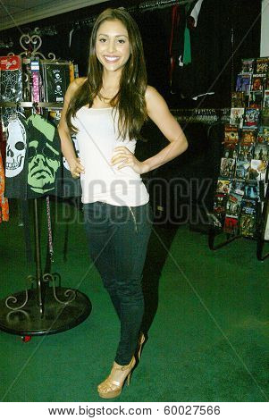 BURBANK, CA - FEBRUARY 16: Lindsey Morgan attends the