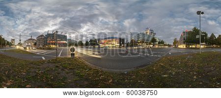 Aegi Plaza in Hannover. 360 Degree Panorama.
