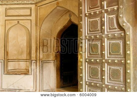 Entrance To A Beautiful Amber Fort In India