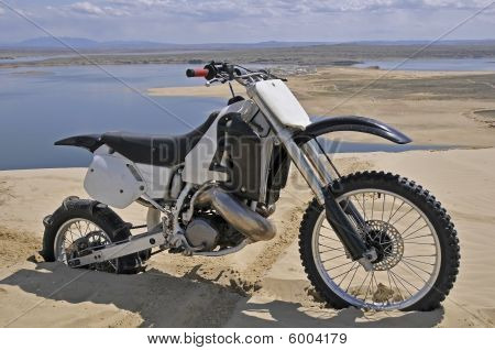 Dirtbike Burried In Sand