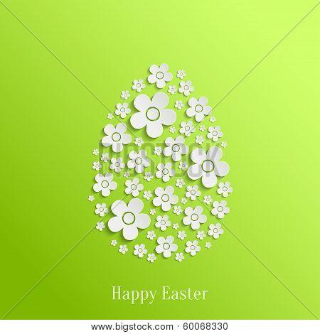 Easter Egg of White Flowers
