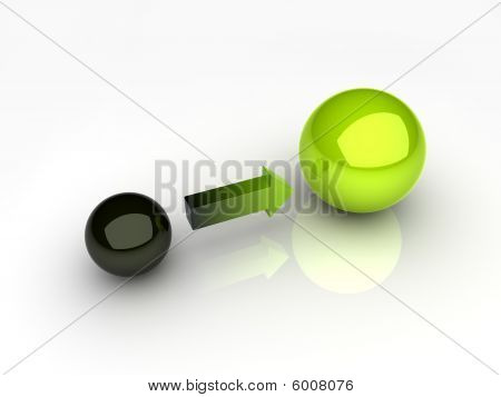 Black And Green Sphere