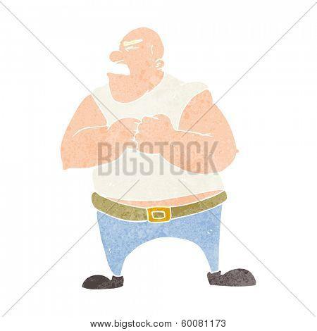 cartoon violent man