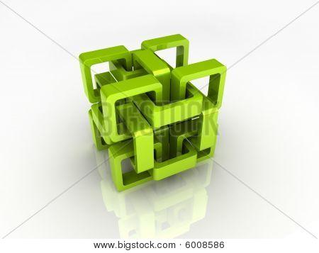Green chain cube