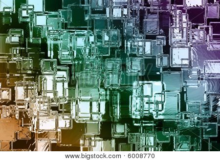 Abstract Colour Crystal Background