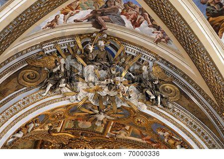 Naples, Italy - April 12, 2014: Murals Inside The Church Of Certosa Di San Martino In Naples, Italy.