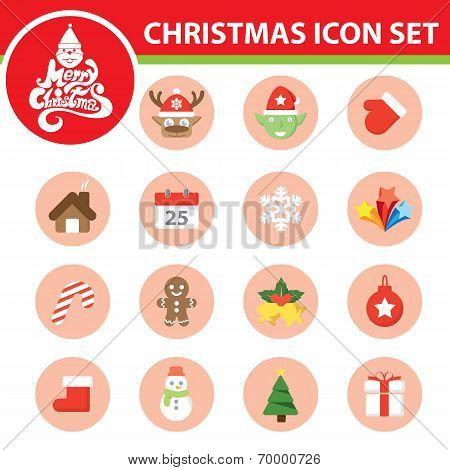 Christmas Symbol Icon Set