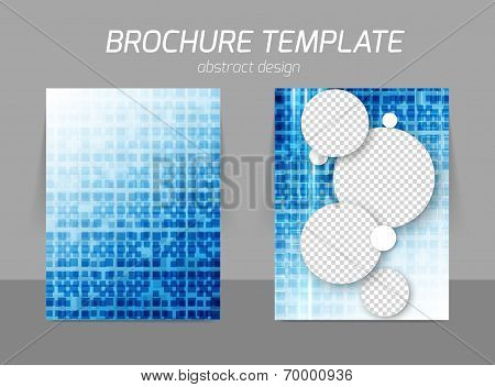 Squares flyer template