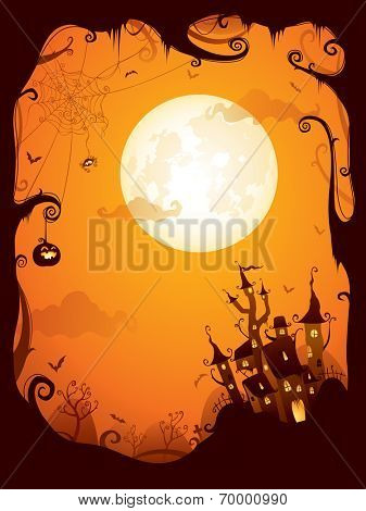 Halloween border for design.