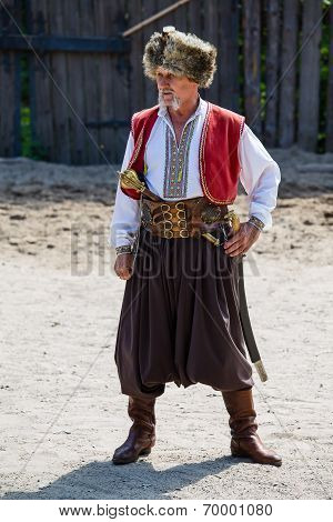 Ukrainian Cossack In National Dress