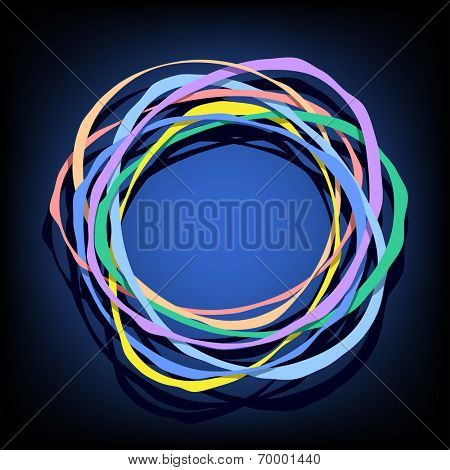 abstract composition with color rings