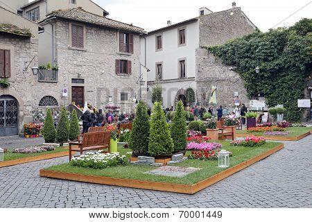 "Exhibition ""san Pellegrino In Fiore In Viterbo."" The Event In San Pelle"