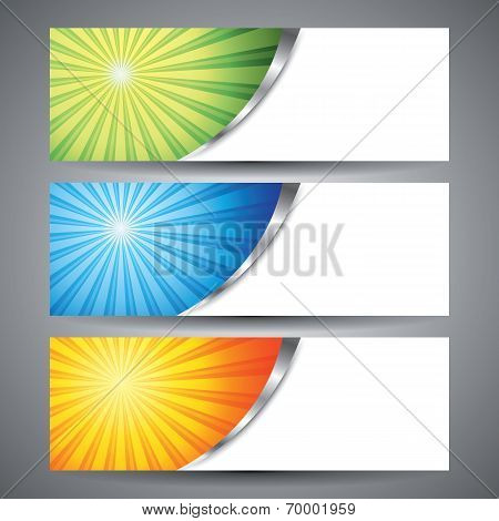 Abstract Sun Burst Banner Background