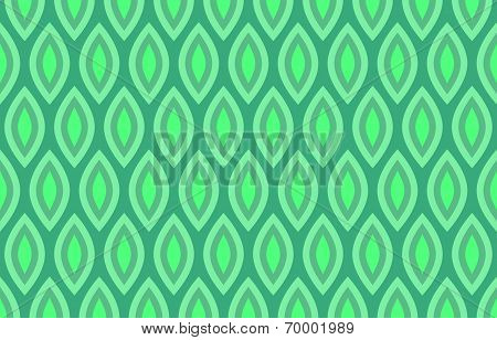 Abstract Geometric Seamless Pattern Background in Shades of Green