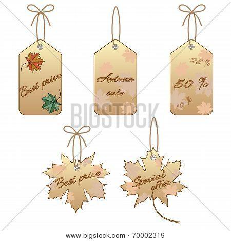 Maple leaf label set