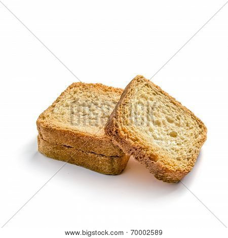 Toasts On White