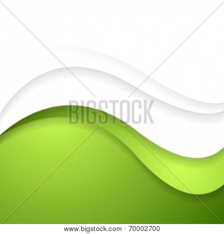 Bright abstract waves background. Vector template design