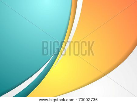 Abstract colorful corporate waves background. Vector design