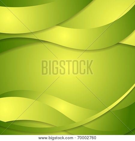 Abstract corporate green waves background. Vector design
