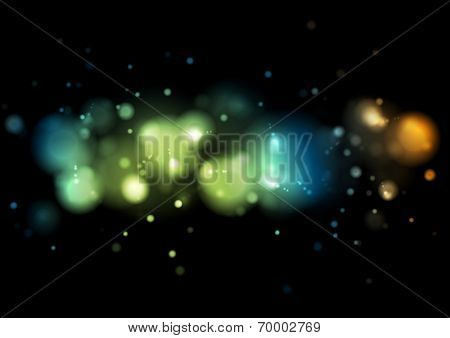 Abstract shiny lights background. Vector template