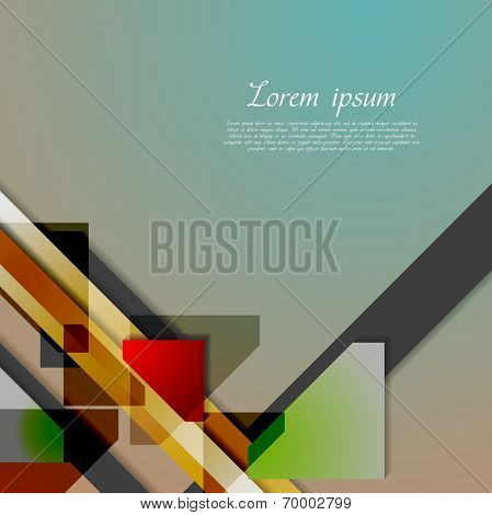 Abstract hi-tech geometry background. Vector design