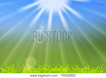 Abstract summer sunlight background. Vector design