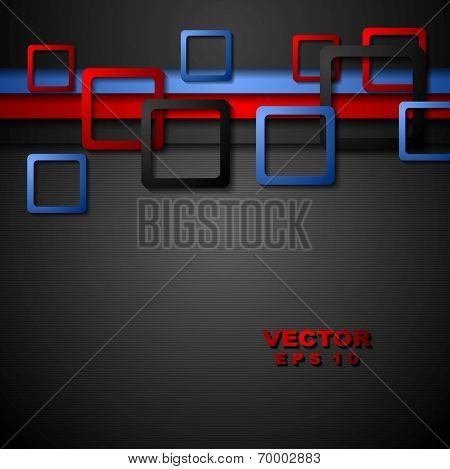 Bright abstract corporate geometry background. Vector design