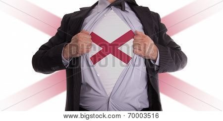 Businessman With Alabama Flag T-shirt