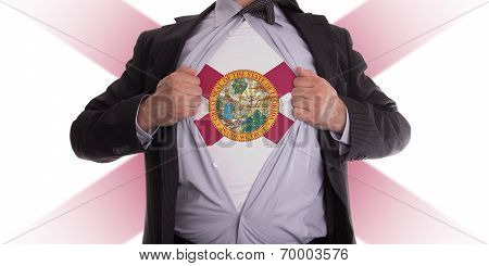 Businessman With Florida Flag T-shirt