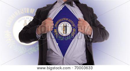 Businessman With Kentucky Flag T-shirt