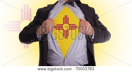 Businessman With New Mexico Flag T-shirt