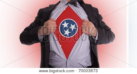 Businessman With Tennessee Flag T-shirt