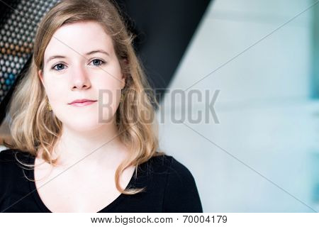 beautiful smiling young attractive woman portrait