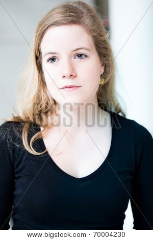 beautiful young attractive woman portrait