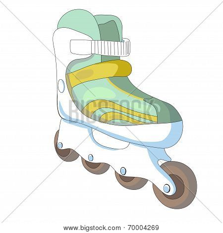 Vector illustration of roller skates.