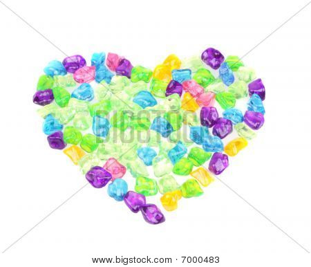 Heart From Transparent Stones