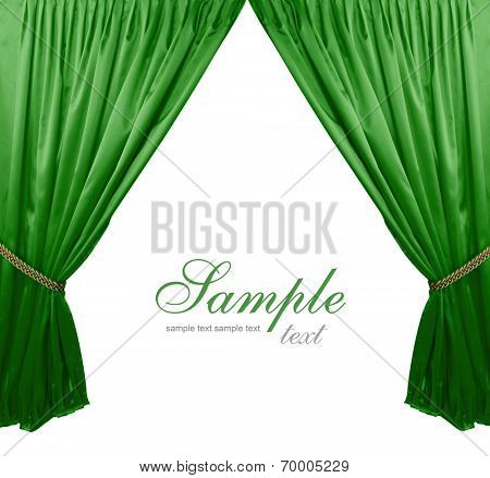 Green theater curtain background