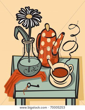 tea still life